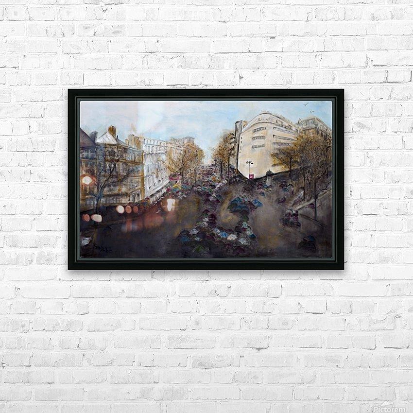 Buildings_High_Res HD sublimation métal imprimé avec décoration flotteur cadre (boîte)