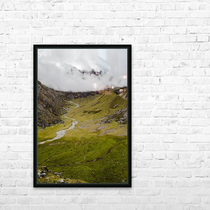 Cusco Valley HD Sublimation Metal print with Decorating Float Frame (BOX)