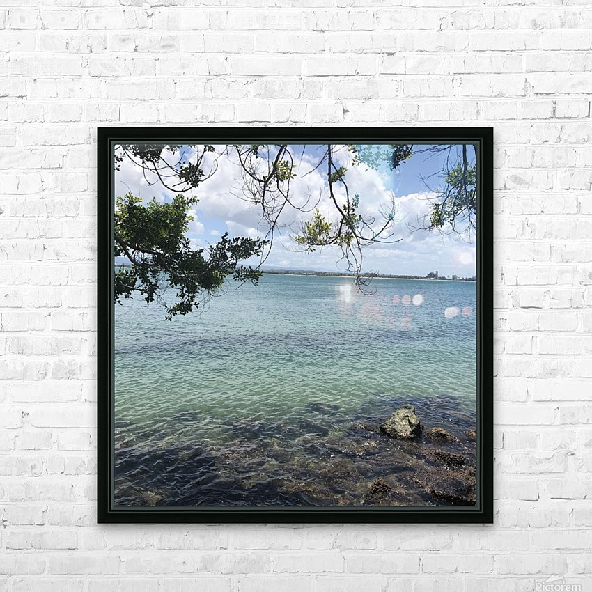 A Street Side in Puerto Rico Series: 3 HD Sublimation Metal print with Decorating Float Frame (BOX)