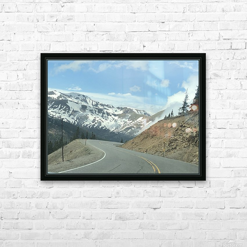 Old Country Road...Up In the Mountains HD Sublimation Metal print with Decorating Float Frame (BOX)