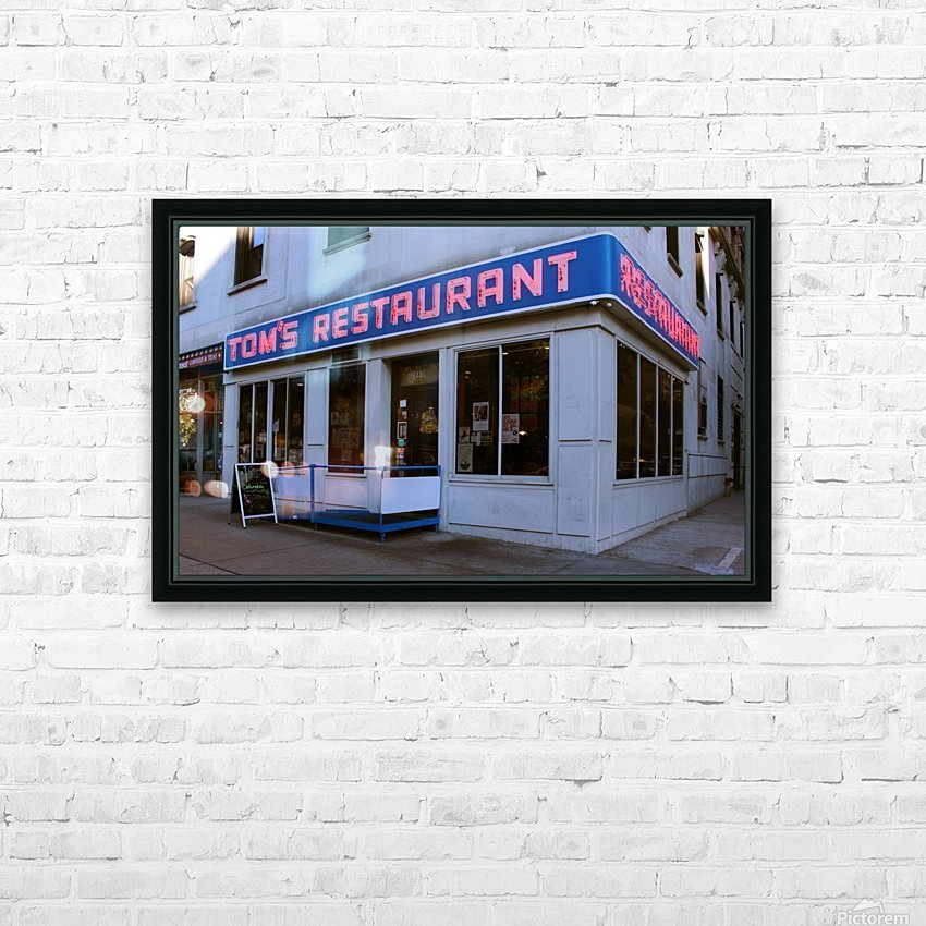 Toms Restaurant HD Sublimation Metal print with Decorating Float Frame (BOX)