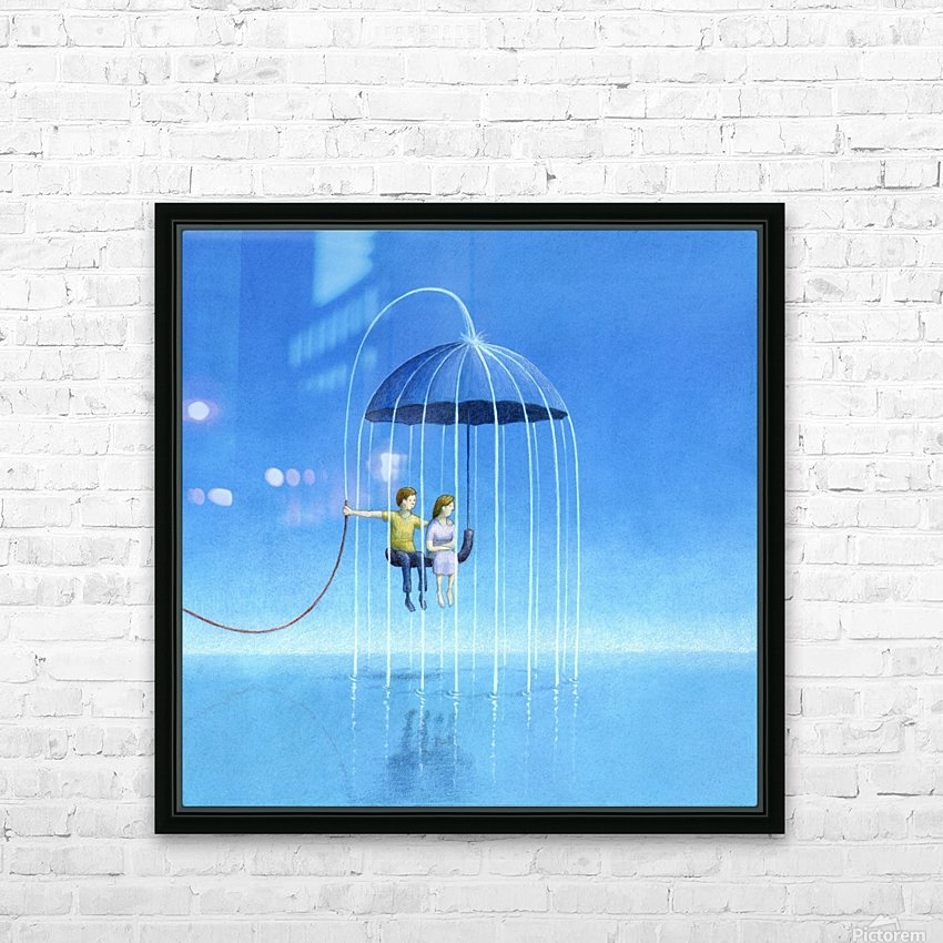 stay with me HD Sublimation Metal print with Decorating Float Frame (BOX)