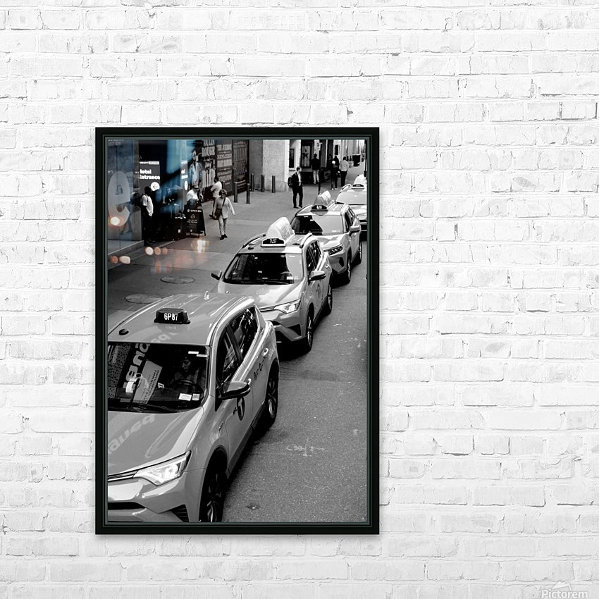 New York Taxis HD Sublimation Metal print with Decorating Float Frame (BOX)