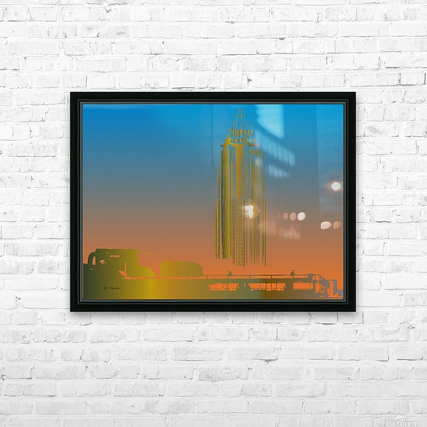 Abstract Skyscraper 1 HD Sublimation Metal print with Decorating Float Frame (BOX)