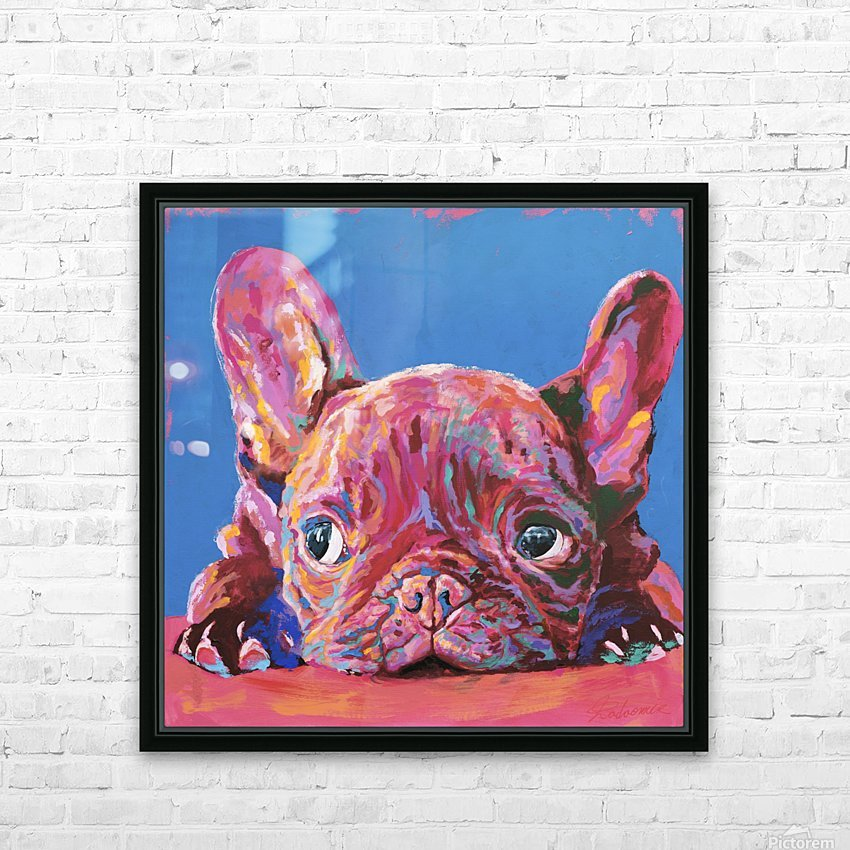 French Bulldog HD Sublimation Metal print with Decorating Float Frame (BOX)
