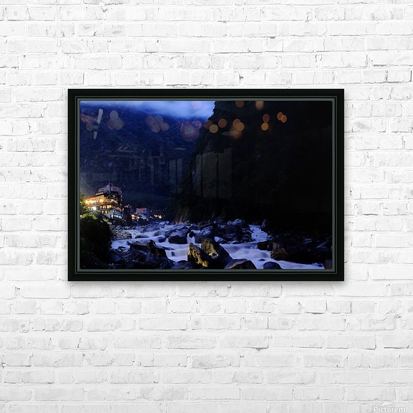 Machu Picchu Pueblo HD Sublimation Metal print with Decorating Float Frame (BOX)