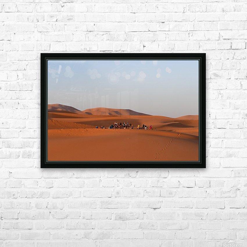 Merzouga sunrise HD Sublimation Metal print with Decorating Float Frame (BOX)