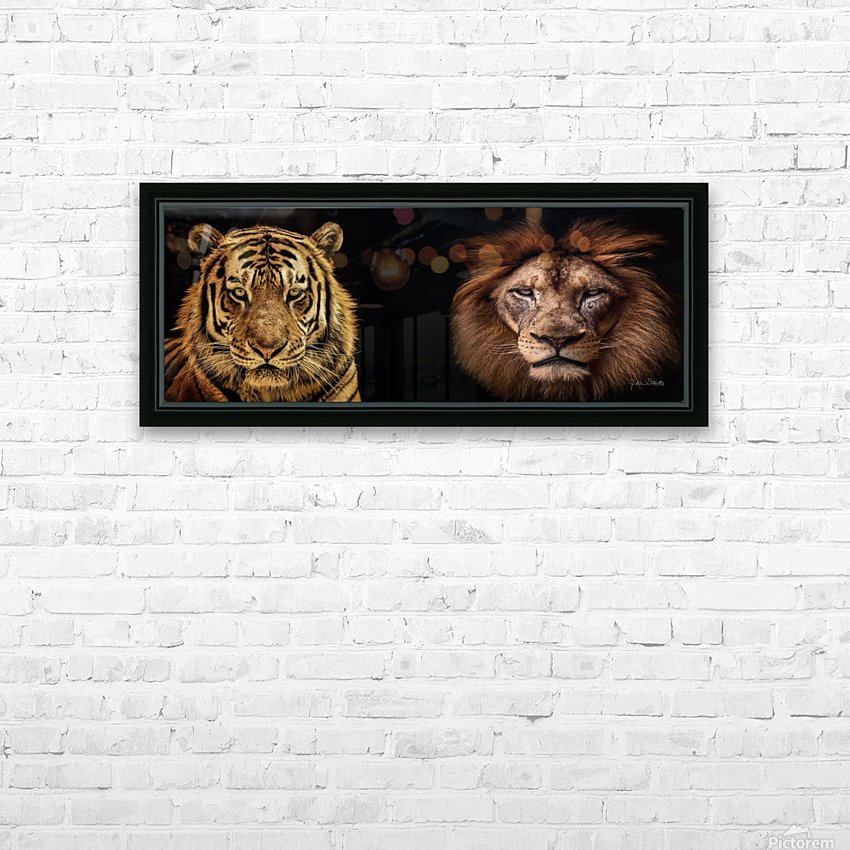 The Kings of Beasts - No Title HD Sublimation Metal print with Decorating Float Frame (BOX)