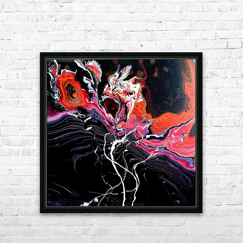 Hell garden HD Sublimation Metal print with Decorating Float Frame (BOX)