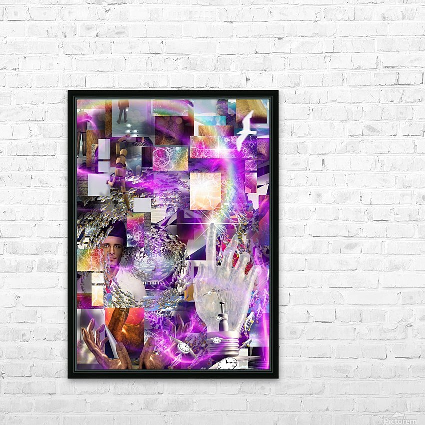 Vortex of Life HD Sublimation Metal print with Decorating Float Frame (BOX)