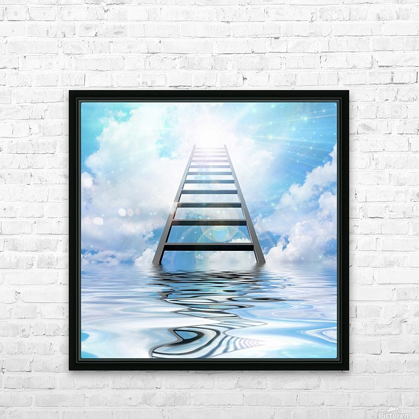 Ladder to the Sky HD Sublimation Metal print with Decorating Float Frame (BOX)