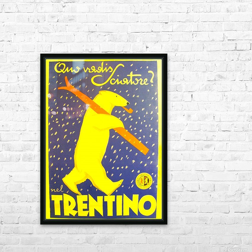 Vintage Travel - Trentino HD Sublimation Metal print with Decorating Float Frame (BOX)