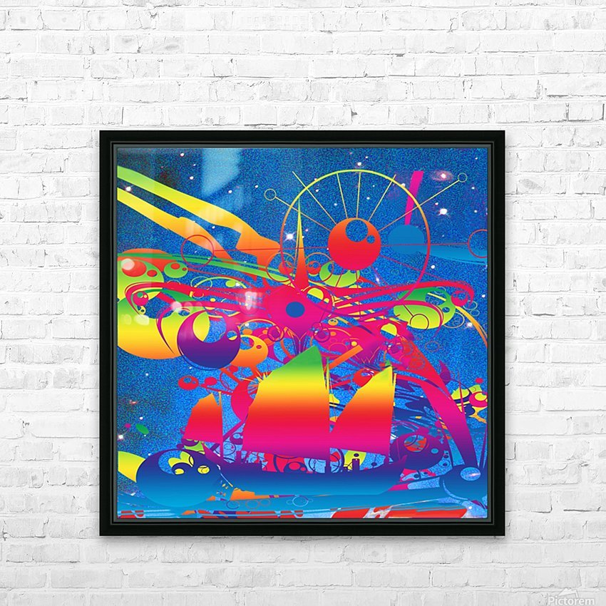 Star Ship HD Sublimation Metal print with Decorating Float Frame (BOX)