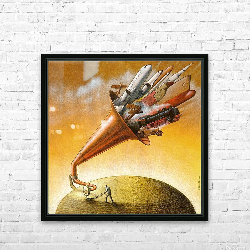 humanity HD Sublimation Metal print with Decorating Float Frame (BOX)