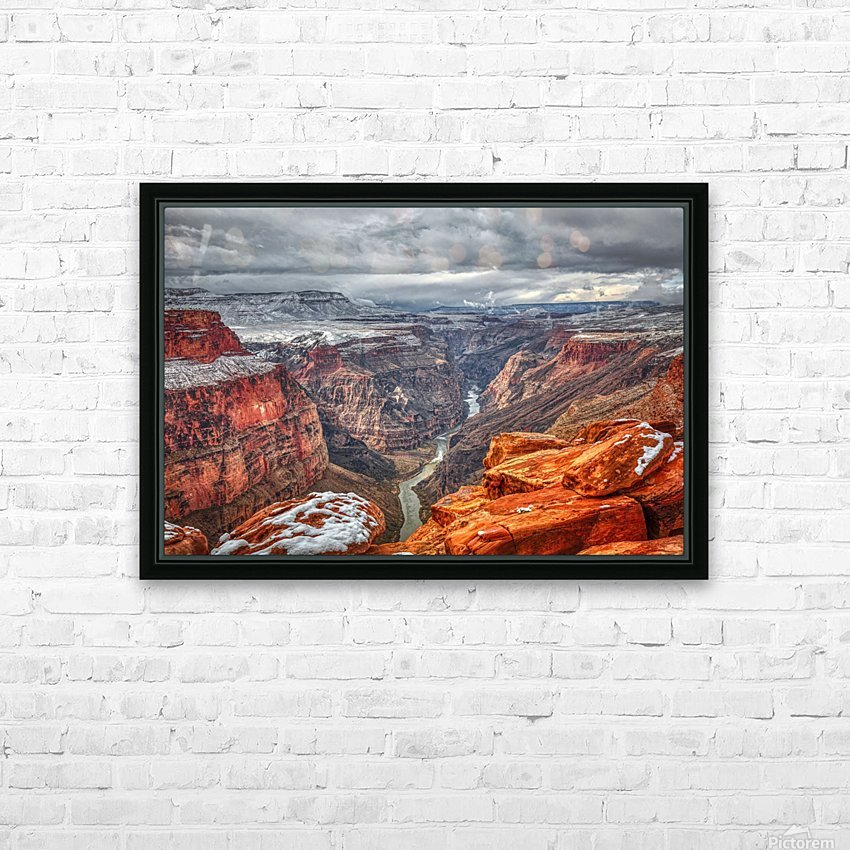 Mysteries of Time HD Sublimation Metal print with Decorating Float Frame (BOX)