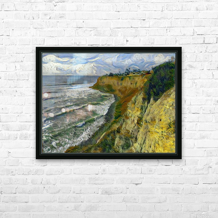 California cove HD Sublimation Metal print with Decorating Float Frame (BOX)
