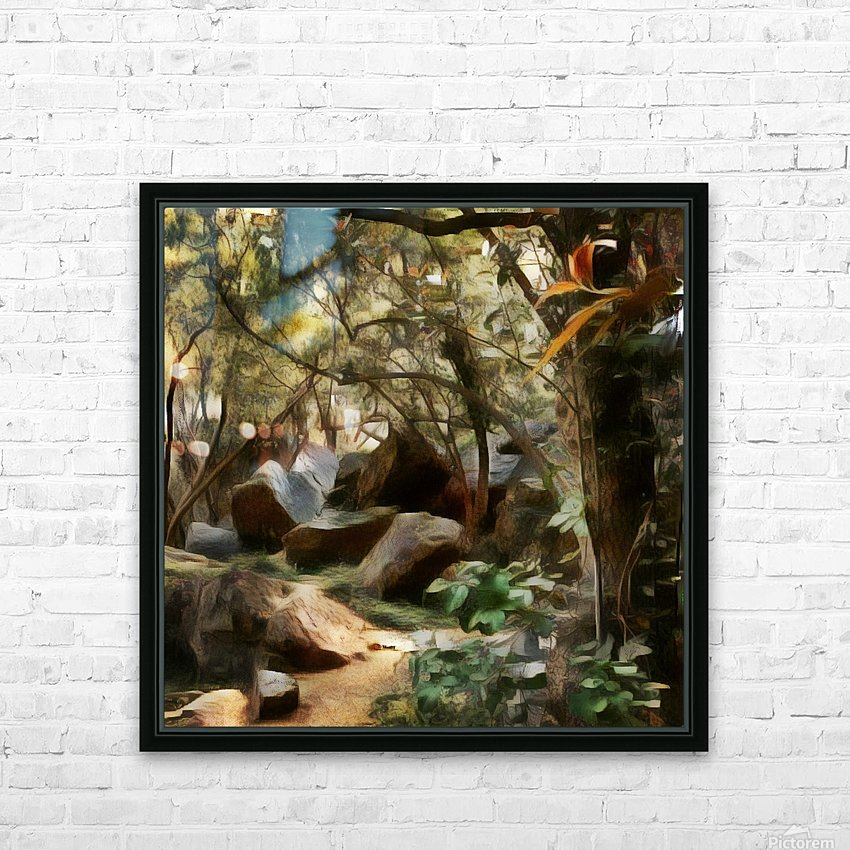 Into the Woods HD Sublimation Metal print with Decorating Float Frame (BOX)