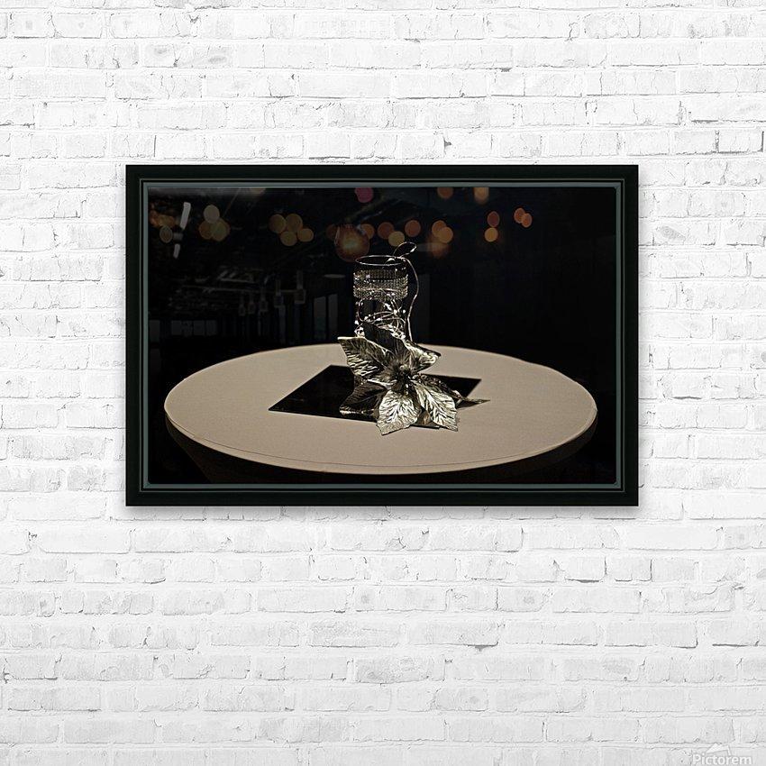 Crystalline Floret HD Sublimation Metal print with Decorating Float Frame (BOX)
