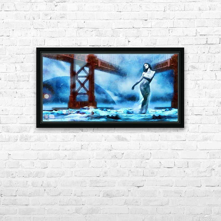 The Water Witch HD Sublimation Metal print with Decorating Float Frame (BOX)