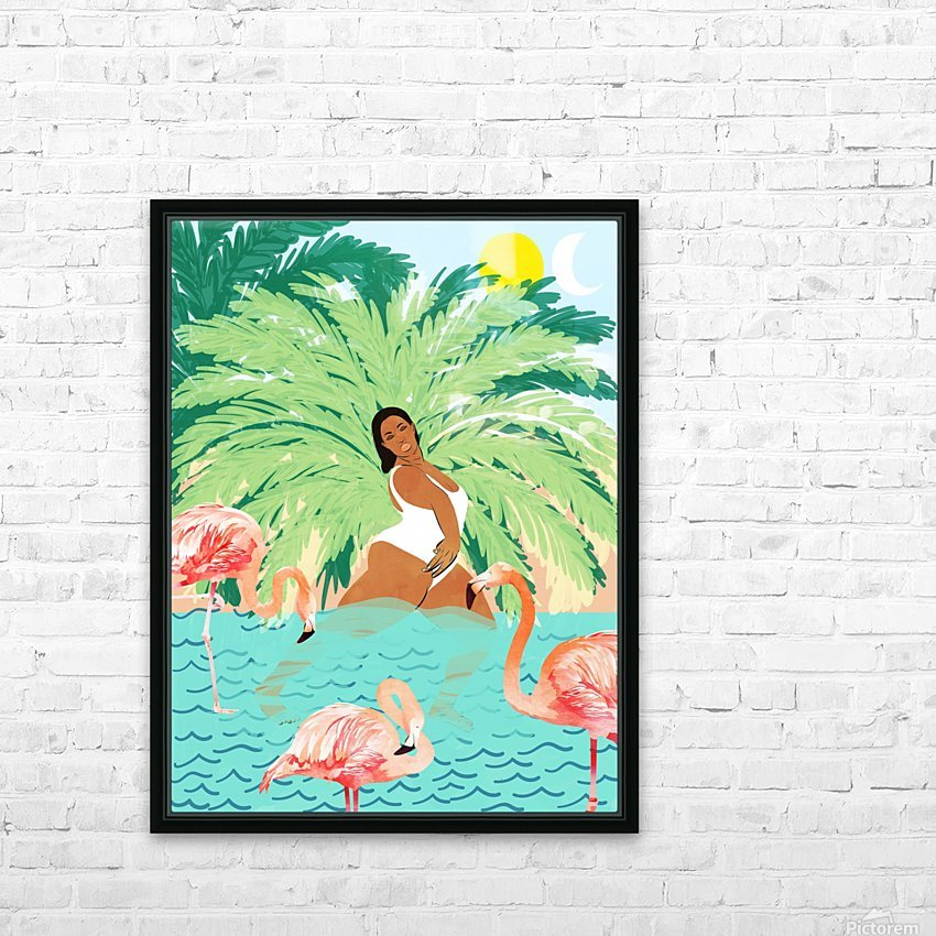 Water Yoga HD Sublimation Metal print with Decorating Float Frame (BOX)