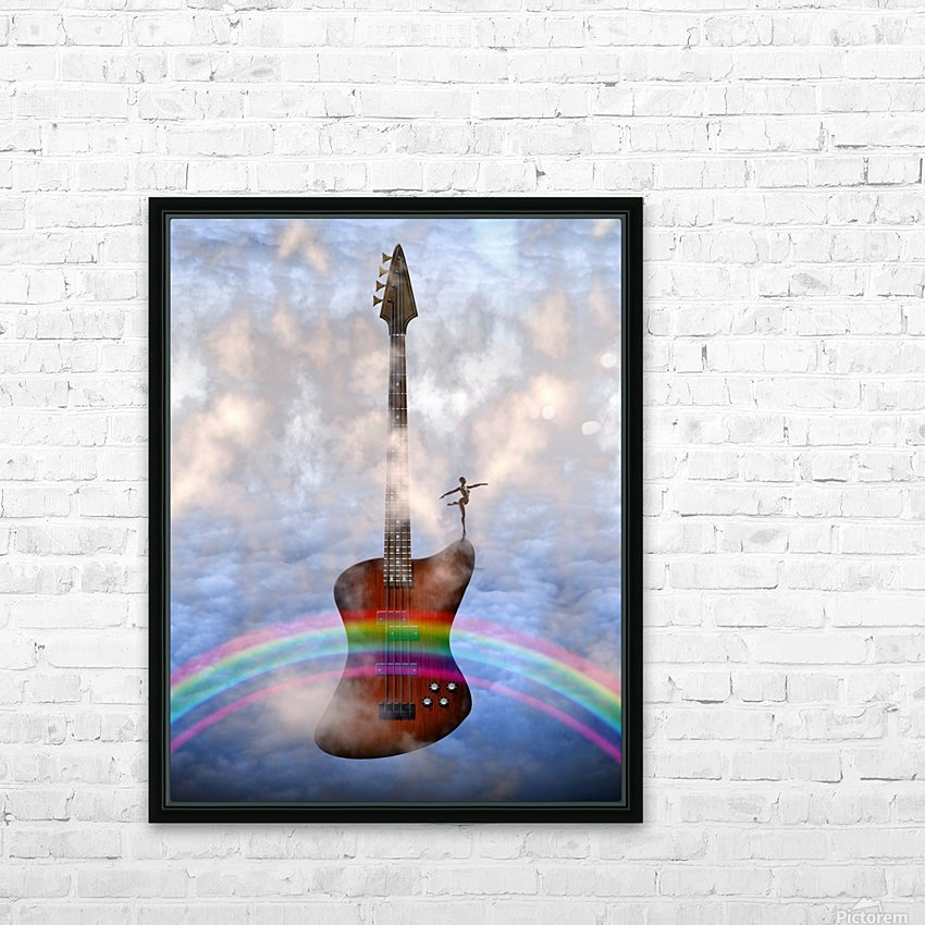 Bass Guitar with Dancer HD Sublimation Metal print with Decorating Float Frame (BOX)
