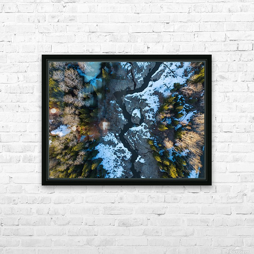 Ontario River HD Sublimation Metal print with Decorating Float Frame (BOX)