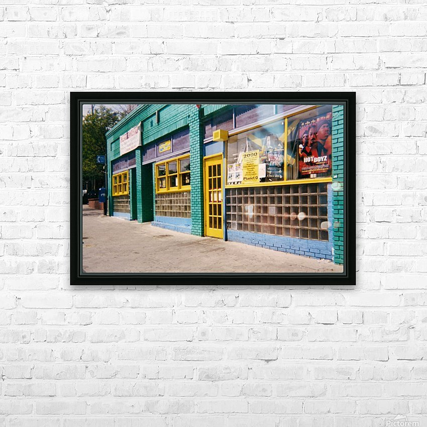 Atlanta Street Scene  HD Sublimation Metal print with Decorating Float Frame (BOX)