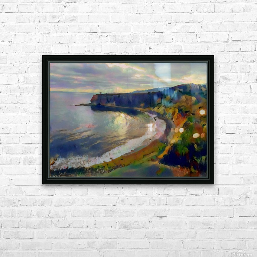 Hidden cove HD Sublimation Metal print with Decorating Float Frame (BOX)