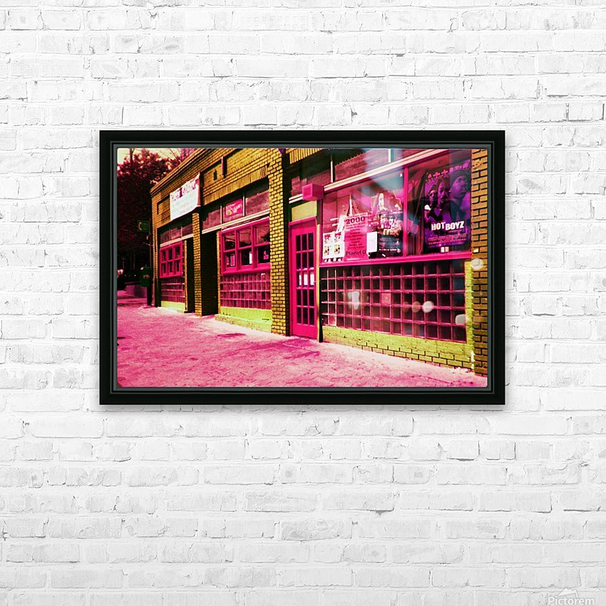 Atlanta Street Scene -- Red HD Sublimation Metal print with Decorating Float Frame (BOX)