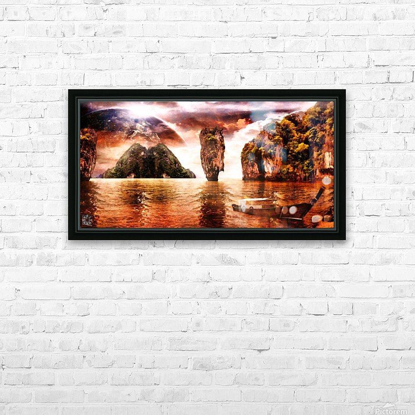 The Wondering Sea HD Sublimation Metal print with Decorating Float Frame (BOX)