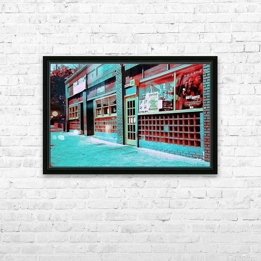 Atlanta Street Scene -- Turquoise HD Sublimation Metal print with Decorating Float Frame (BOX)