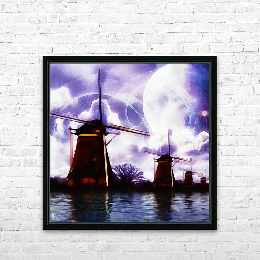 Windcatcher HD Sublimation Metal print with Decorating Float Frame (BOX)