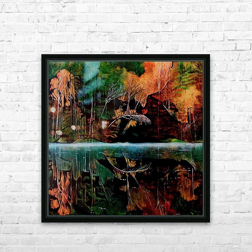 Morning Mist HD Sublimation Metal print with Decorating Float Frame (BOX)