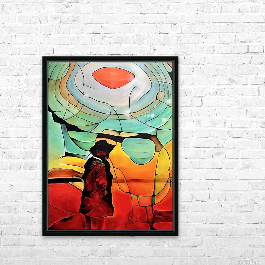 Sun Rings HD Sublimation Metal print with Decorating Float Frame (BOX)