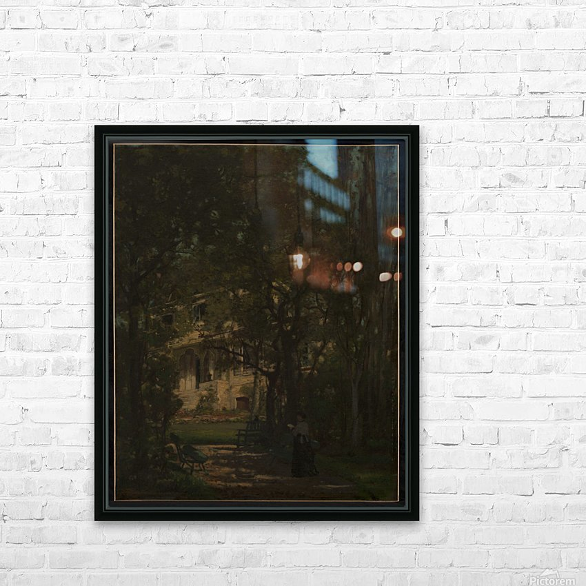 Maison de campagne de l artiste HD Sublimation Metal print with Decorating Float Frame (BOX)