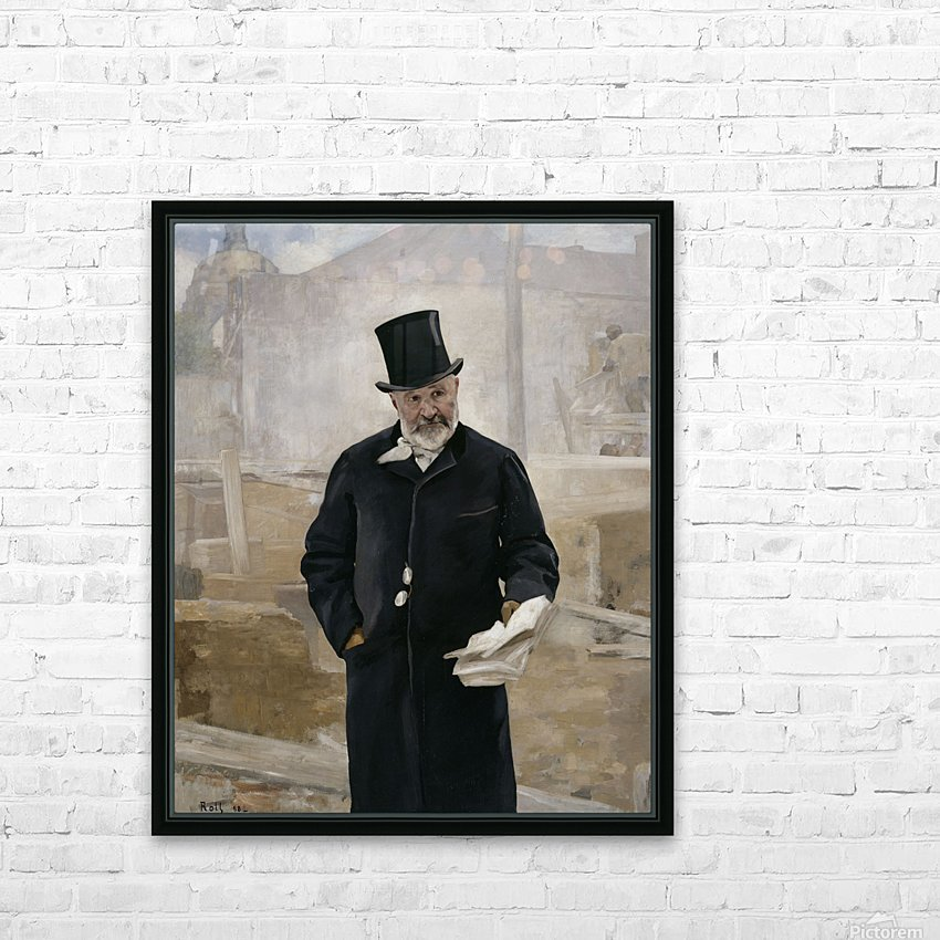 Portrait d Adolphe Alphand HD Sublimation Metal print with Decorating Float Frame (BOX)
