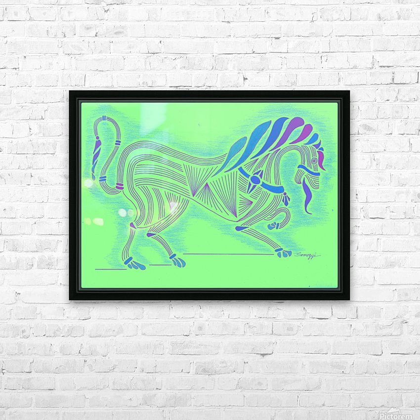 RARIN' TO GO--Blue on Green HD Sublimation Metal print with Decorating Float Frame (BOX)