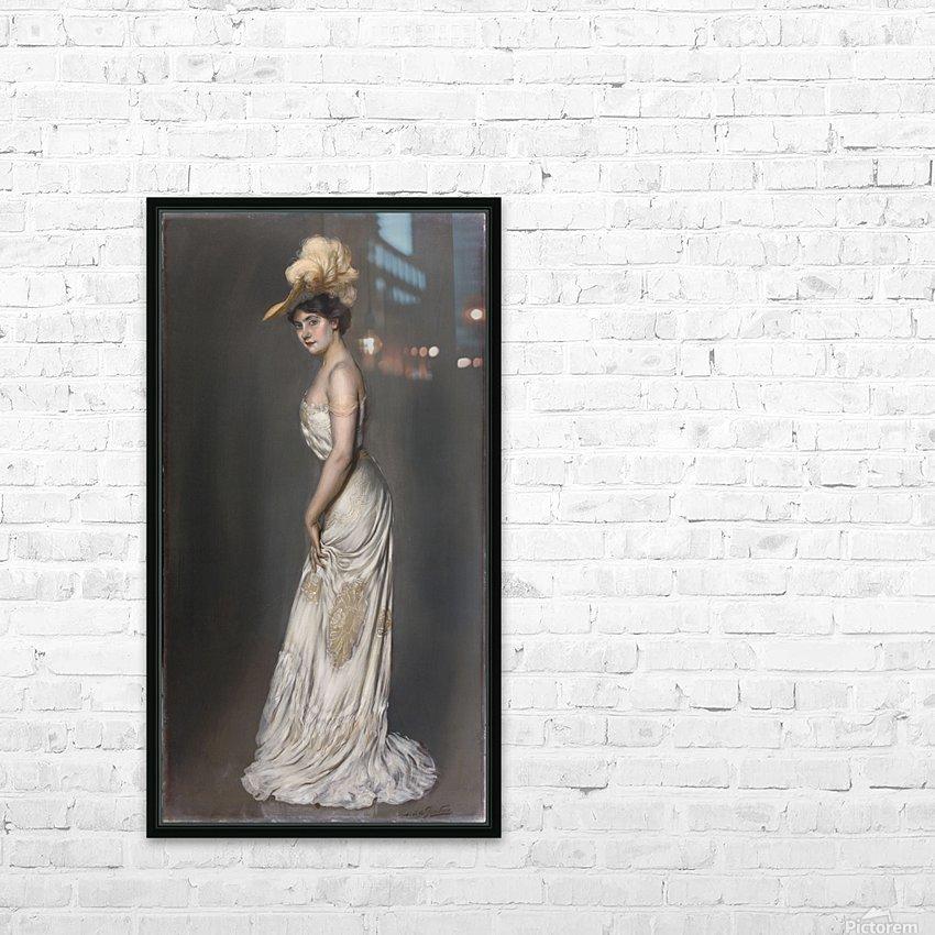 Portrait de madame Rene Prejelan HD Sublimation Metal print with Decorating Float Frame (BOX)