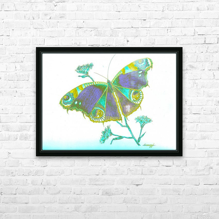 Butterfly Dressed for a Masquerade Ball III HD Sublimation Metal print with Decorating Float Frame (BOX)