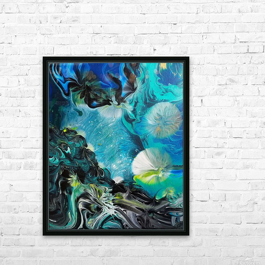 Galactic flowers HD Sublimation Metal print with Decorating Float Frame (BOX)