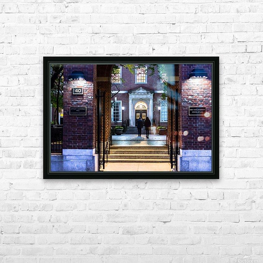 New York University School of Law  Vanderbilt Hall HD Sublimation Metal print with Decorating Float Frame (BOX)