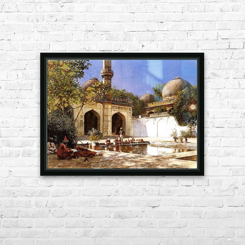Figures in the Courtyard of a Mosque HD Sublimation Metal print with Decorating Float Frame (BOX)