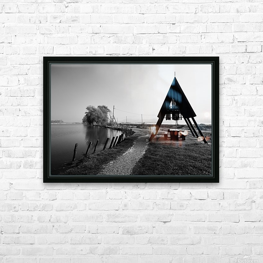 Fishermans Sanctuary HD Sublimation Metal print with Decorating Float Frame (BOX)