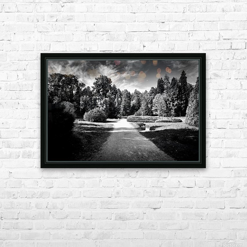 Autumn And The Moon HD Sublimation Metal print with Decorating Float Frame (BOX)