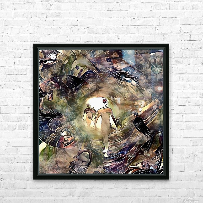 Human Souls in Tunnel of Light HD Sublimation Metal print with Decorating Float Frame (BOX)