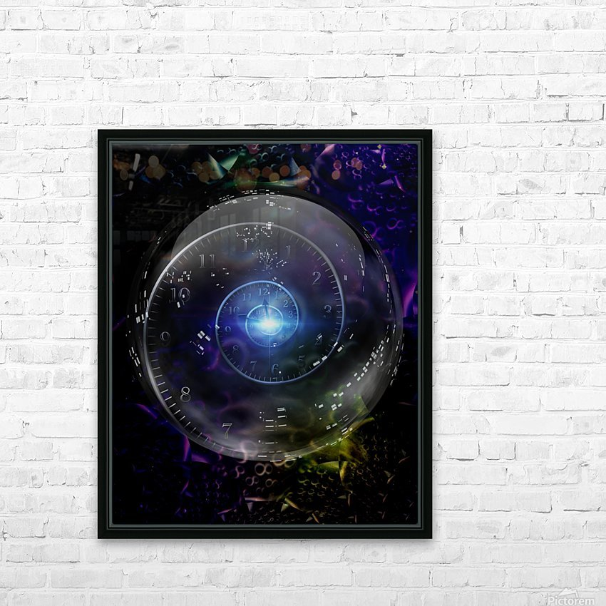 Time Warp HD Sublimation Metal print with Decorating Float Frame (BOX)