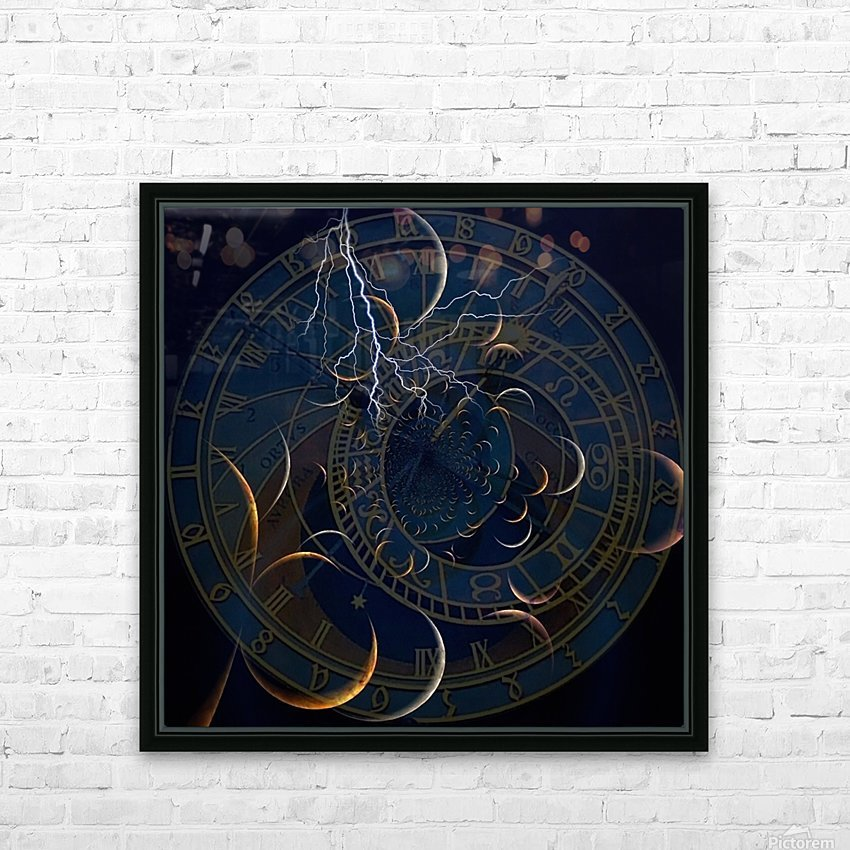 Zodiac Time HD Sublimation Metal print with Decorating Float Frame (BOX)
