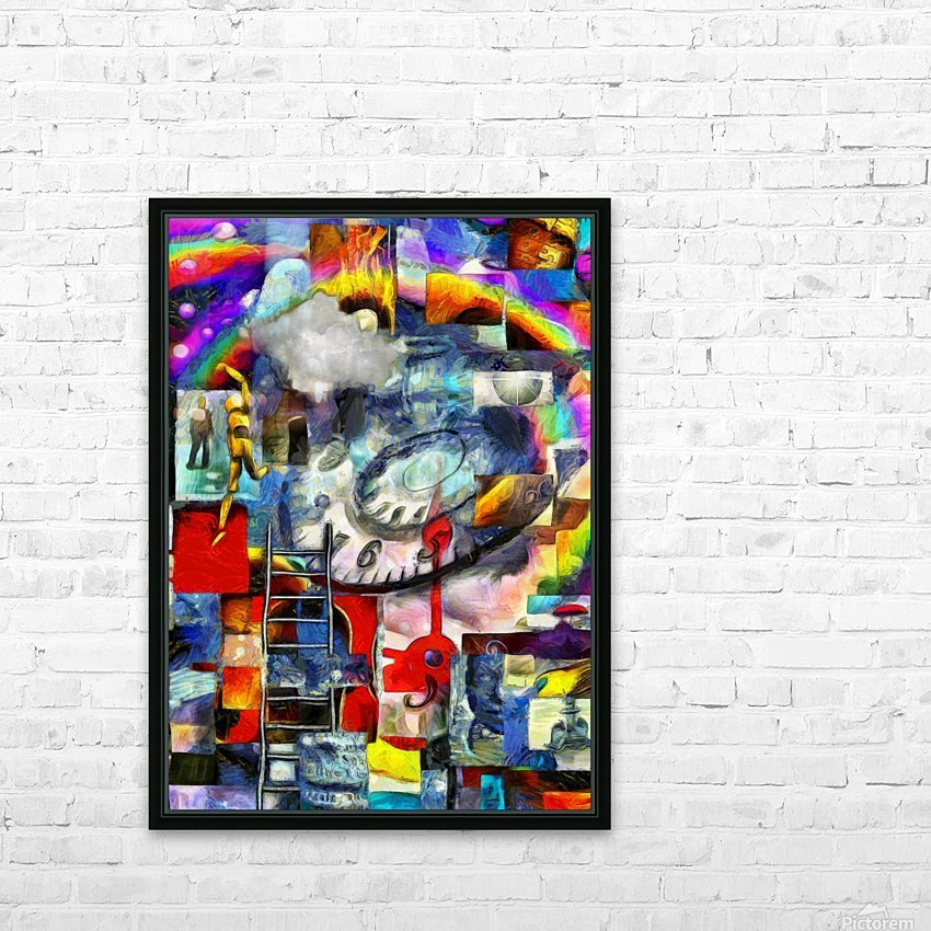 Elements of Human Consciousness HD Sublimation Metal print with Decorating Float Frame (BOX)