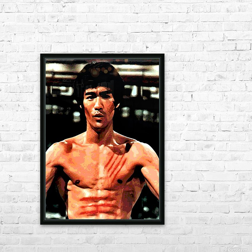 bruce lee1a HD Sublimation Metal print with Decorating Float Frame (BOX)