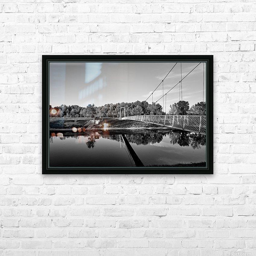 White Bridge HD Sublimation Metal print with Decorating Float Frame (BOX)